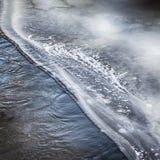 Rio congelado sumário Fotografia de Stock
