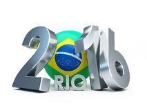 Rio 2016. 3d Illustrations. On a white background stock illustration