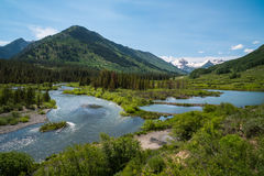 Rio da ardósia, montículo com crista, Colorado Imagem de Stock