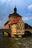 Rio da câmara municipal e do Regnitz, Bamberga Fotos de Stock