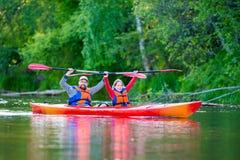 Rio da canoa Imagem de Stock