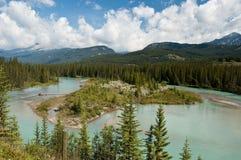 Rio da curva, Banff, Alberta, Canadá Imagem de Stock