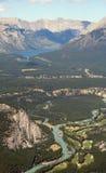 Rio da curva, Canadá Imagem de Stock