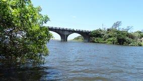 Rio da estrada de ferro e do Msimbazi foto de stock