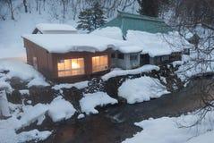 Rio da floresta do inverno Fotos de Stock Royalty Free