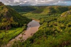 Rio da garganta de Waimea na ilha bonita de Kauai fotografia de stock royalty free