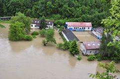 Rio da inundação Foto de Stock Royalty Free