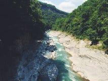 Rio da montanha fotografia de stock