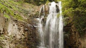Rio da montanha Cachoeira nas montanhas video estoque