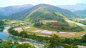Rio da montanha de Vietname norte Foto de Stock