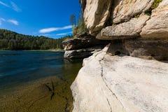Rio da montanha do verão Rio Biya de Altay Fotos de Stock Royalty Free