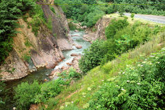 Rio da montanha geórgia Imagens de Stock