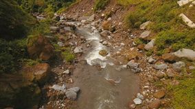 Rio da montanha na ilha Filipinas do rainforestCamiguin Fotos de Stock Royalty Free
