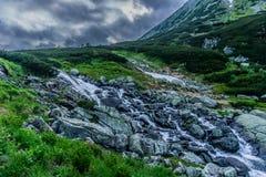 Rio da montanha no vale imagens de stock royalty free