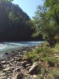 Rio da montanha Paisagem da montanha imagens de stock royalty free
