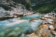 Rio da montanha Vista cênico do rio de Verdon em França Imagem de Stock Royalty Free