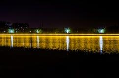 Rio da noite Imagens de Stock