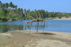 Rio da praia Imagem de Stock