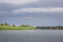 Rio Danúbio em Belgrado Imagens de Stock Royalty Free