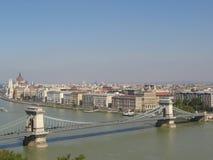 Rio Danúbio em Budapest Imagens de Stock