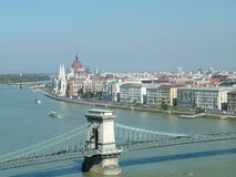 Rio Danúbio em Budapest Imagens de Stock Royalty Free