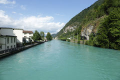Rio de Aare em Interlaken Imagens de Stock