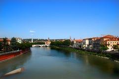 Rio de Adige em Verona Fotos de Stock Royalty Free