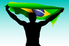 rio 2016 de agent van de de Spelenillustratie van Brazilië met Braziliaanse vlag De zomerkleur van atletische Groene spelen 2016  Stock Foto's
