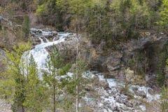 Rio de Arazas no parque nacional de Ordesa y Monte Perdido fotografia de stock royalty free