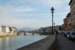 Rio de Arno, cidade de Florença, Natal em Itália imagem de stock royalty free