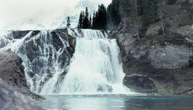 Rio de Athabasca, parque nacional do jaspe. imagem de stock royalty free