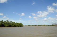 Rio de Bangprakong no chachoengsao Tailândia Imagem de Stock Royalty Free