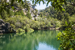 Rio de Borosa do reservatório Imagem de Stock