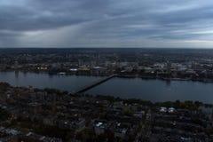 Rio de Boston na noite Fotos de Stock