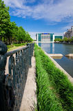Rio de Bucareste - de Dambovita Fotografia de Stock