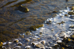 Rio de congelação Fotos de Stock Royalty Free