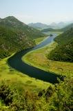 Rio de Crnojevica, Montenegro imagem de stock