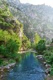 Rio de Deva em Cantábria da Espanha imagens de stock royalty free