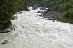 Rio de Exploradores no Patagonia chileno imagem de stock