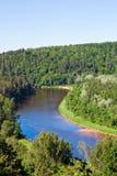 Rio de Gauja imagens de stock