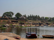Rio de Hampi Fotografia de Stock