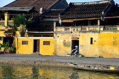 Rio de Hoai na cidade antiga de Hoian em Hoian, Vietname Foto de Stock Royalty Free