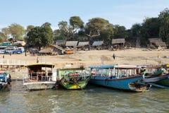 Rio de Irrawaddy em Bagan, Myanmar Fotografia de Stock