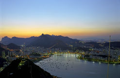 Rio de Janeiro à l'aube Photographie stock libre de droits