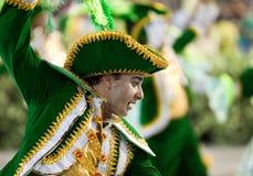 RIO DE JANEIRO - 10 DE FEVEREIRO: Desempenho dos povos no carnaval Imagens de Stock