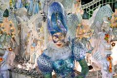 RIO DE JANEIRO - 10 DE FEVEREIRO: Mostre com as decorações no carnaval Foto de Stock Royalty Free