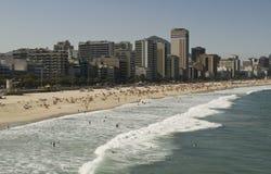 Rio de Janeiro. The famous Leblon beach in Rio de Janeiro Stock Image