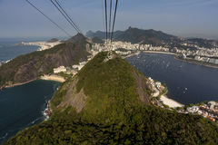 Rio de Janeiro. / Brazil: Spectacularly view from Sugar Loaf Mountain over stock image