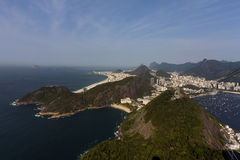 Rio de Janeiro. / Brazil: Spectacularly view from Sugar Loaf Mountain over stock photo