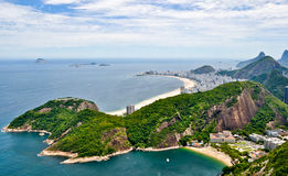 Rio De Janeiro from the Sugarloaf mountain Royalty Free Stock Photography